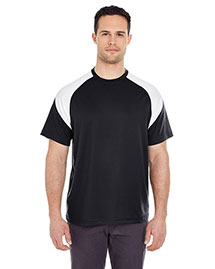 Ultraclub 8399 Men Shoulder Block Tee