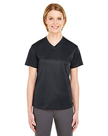 UltraClub 8400L Ladies' Cool & Dry Sport Mesh VNeck Tee at bigntallapparel
