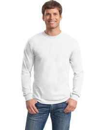 Gildan G8400 Mens Ultra Blend 50/50 Cotton/Poly Long Sleeve T Shirt at bigntallapparel
