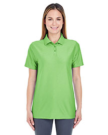 Ultraclub 8413L Women Cool & Dry Elite Tonal Stripe Performance Polo