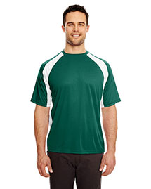 Ultraclub 8421 Men Cool & Dry Sport Twotone Performance Tee