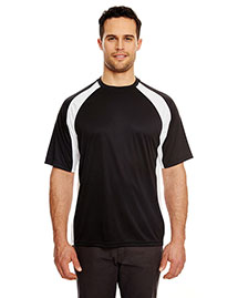 UltraClub 8421 Adult Cool & Dry Sport TwoTone Performance Tee at bigntallapparel