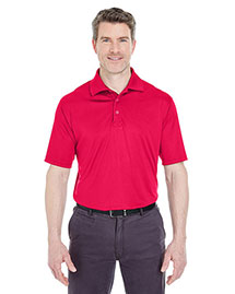 UltraClub 8425 Men's Cool & Dry Sport SnagResistant Performance Interlock Polo at bigntallapparel
