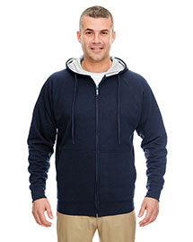 Ultraclub 8463 Men Thermal Full Zip Sweatshirt