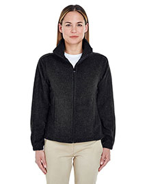 UltraClub 8481 Ladies' Iceberg Fleece FullZip Jacket at bigntallapparel
