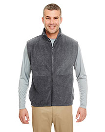 UltraClub 8486 Full Zip Vest at bigntallapparel