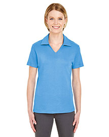 UltraClub 8507 Women Egyptian Interlock Vneck Polo