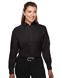 Tri-Mountain 852 Women WoRayon/Poly Long Sleeve Shirt With Mini-Houndstooth Pattern