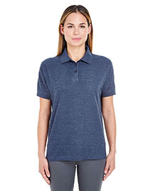 Ultraclub 8541 Women Whisper Pique Polo at bigntallapparel