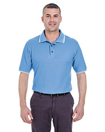 Ultraclub 8545 Men Shortsleeve Whisper Pique Polo With Ribknit Collar And Cuff Tipping