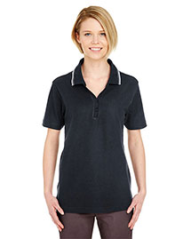 Ultraclub 8546 Women Shortsleeve Whisper Pique Polo With Ribknit Collar Tipping