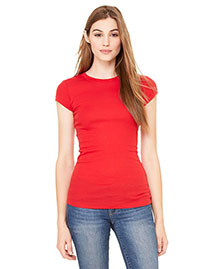 Bella 8701 Women WoSheer Mini Rib Short-Sleeve T-Shirt