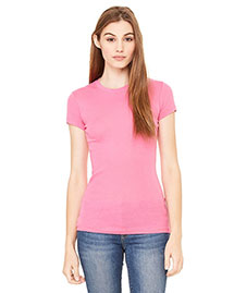 Bella 8701 Women Sheer Mini Rib Short-Sleeve T-Shirt