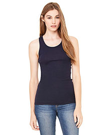 Bella 8770 Women Sheer Mini Rib Racerback Tank at bigntallapparel