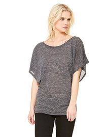 Bella 8821 Women Flowy Draped Sleeve Dolman T-Shirt at bigntallapparel
