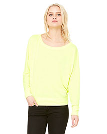 Bella 8850 Women Flowy Long-Sleeve Off Shoulder T-Shirt at bigntallapparel