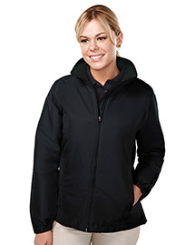 Tri-Mountain 8860TM Women's 100% polyester long sleeve jacket with water resistent at bigntallapparel