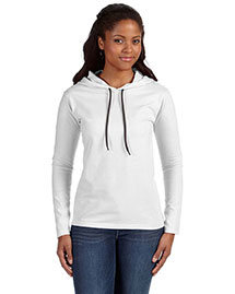 Anvil 887L Women Ringspun Long-Sleeve Hooded T-Shirt