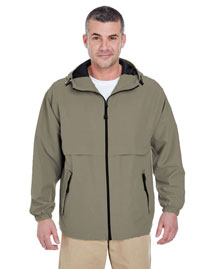 UltraClub 8908 Men Hooded Zip Jacket