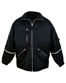 Tri-Mountain 8930 Mens Nylon Jacket With Reflective Tape at bigntallapparel