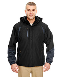 Ultraclub 8939 Men Threeinone Color Block Systems Jacket at bigntallapparel