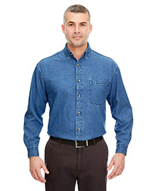 Ultraclub 8960T Men Tall Longsleeve Cypress Denim With Pocket