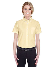 UltraClub 8973 Ladies' Classic WrinkleFree ShortSleeve Oxford at bigntallapparel