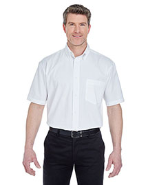 UltraClub 8977 Men Short Sleeve Whisper Twill