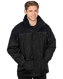 Tri-Mountain 9100 Big And Tall Mens Nylon 3In1 Parka Jacket at bigntallapparel