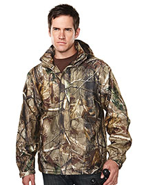 Tri-Mountain 9486C Men's 100% Polyester Camo Jacket at bigntallapparel