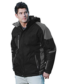 Tri-Mountain 9800 Men 100% Nylon Water Resistant Full Lined & Quilted W/ Removable Hood Woven Ja