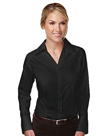 Tri-Mountain 983 Women 100% Cotton Wrinkle Free Piece Dyed Mini Herringbone Woven Shirt
