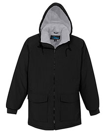 Tri-Mountain 9900 Men Big And Tall Nylon Hooded Parka Jacket With Fleece Lining