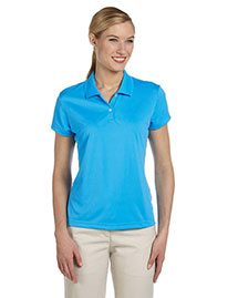 Adidas A122 Women Climalite Short-Sleeve Pique Polo at bigntallapparel