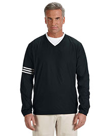 Adidas A147 Men's Climalite® Colorblock V-Neck Wind Shirt at bigntallapparel