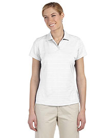 Adidas A162 Women Climalite Textured Short-Sleeve Polo