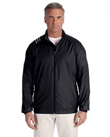 Adidas A169 Men's 3-Stripes Full-Zip Jacket at bigntallapparel