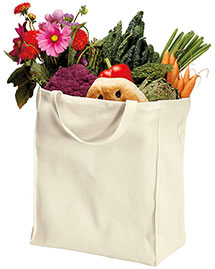 Port Authority B100ORG  100% Organic Cotton Grocery Tote