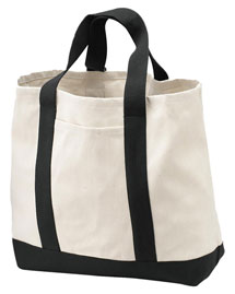 Port & Company B400  2-Tone Shopping Tote at bigntallapparel
