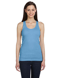 Bella B4070 Women 2x1 Rib Racerback Longer Length Tank at bigntallapparel