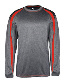 Badger B4350 Adult Fusion Long Sleeve Athletic Tee at bigntallapparel