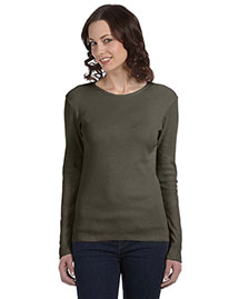 Bella B5001 Women Baby Rib Long-Sleeve T-Shirt