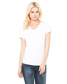 Bella B6005 Women WoJersey Short-Sleeve V-Neck T-Shirt