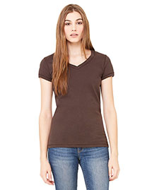 Bella B6005 Women Jersey Short-Sleeve V-Neck T-Shirt
