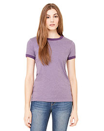 Bella B6050 Women Jersey Short-Sleeve Ringer T-Shirt