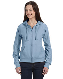 Bella B7007 Women Fleece Full-Zip Raglan Hoodie at bigntallapparel