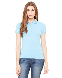 Bella B750 Women Cotton Spandex Mini Pique Short-Sleeve Polo