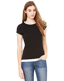Bella B8102 Women WoSheer Jersey Short-Sleeve 2-In-1 T-Shirt