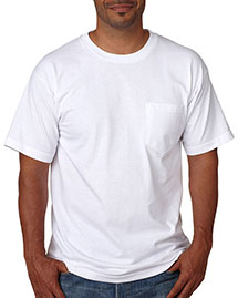 Bayside 5070 Adult ShortSleeve Cotton Tee With Pocket at bigntallapparel