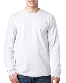Bayside 8100 Men Usa Pocket Long Sleeve T